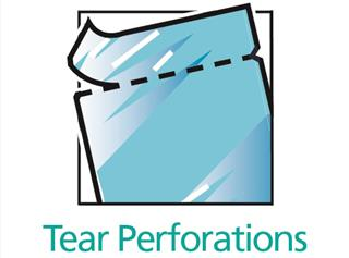 Tear perforations